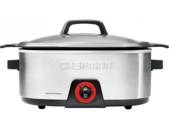 63% off Chefman 6-quart Slow Cooker - Silver