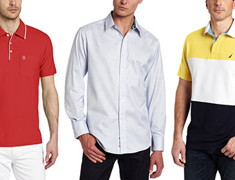 60% off Men's Shirts (Calvin Klein, Original Penguin, Nautica, etc.)