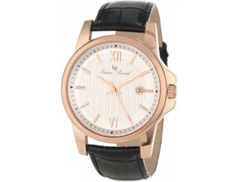 93% off Lucien Piccard 10048 RG 02S Breithorn Leather Watch