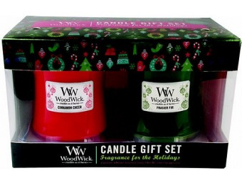 80% off WoodWick Frasier Fir & Cinnamon Cheer Candle Gift Set