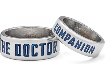 90% off Doctor Who The Doctor and Companion Rings