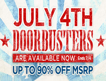 July 4th Doorbusters - Up to 90% off MSRP at Musician's Friend