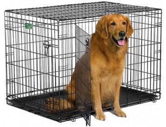 "63% off Midwest iCrate Double Door Folding Dog Crate, 42"" XL"
