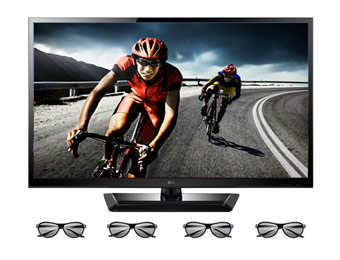 "$240 off LG 47LM4600 47"" 1080p LED 3D HDTV with 4 3D Glasses"