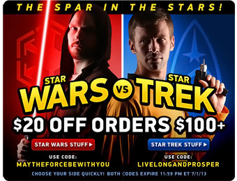 $20 off Star Wars Orders of $100+ w/code: MAYTHEFORCEBEWITHYOU