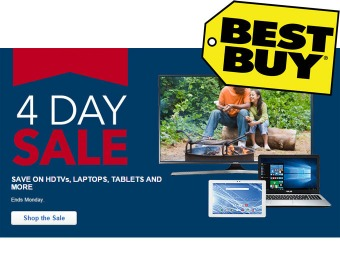 Best Buy 4-Day Sale - HDTVs, Laptops, Tablets & More