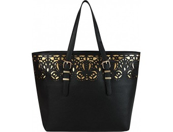 76% off Melie Bianco Tatiana Tote Black Manmade Handbags