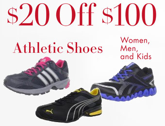 $20 off $100 athletic shoes w/ Amazon promo code NYRUNNER