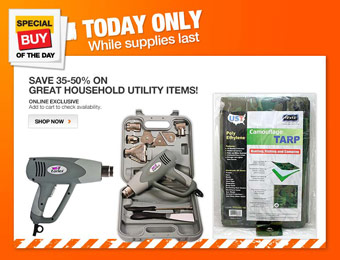 Up to 50% off Select Household Utility Items at Home Depot
