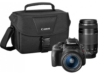 33% off Canon EOS Rebel SL1 w/ 18-55mm STM & 75-300mm III Lenses
