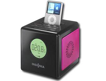 50% off Insignia AM/FM Dual Alarm Clock Radio for Apple iPod