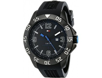 53% off Tommy Hilfiger Men's Cool Sport Black Ion-Plated Watch