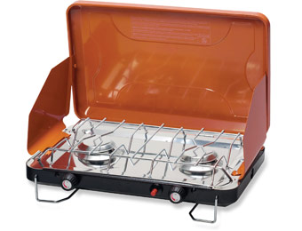 52% off Stansport Deluxe 2-Burner Propane Stove with Piezo Igniter