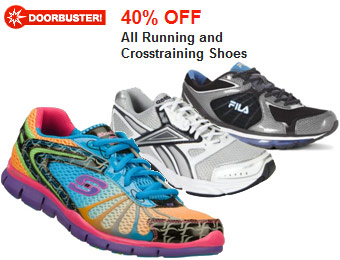 40% off All Running and Crosstraining Shoes