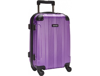 "54% off Kenneth Cole Reaction 20"" Molded Upright Spinner Luggage"