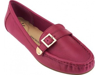 66% off Isaac Mizrahi Live! Pebble Leather Moccasins with Buckle
