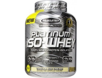 47% off MuscleTech Platinum 100% ISO Whey Supplement, 3.27 lbs.