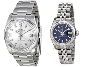 Up to 23% off Men's and Women's Rolex Watches (62 choices)