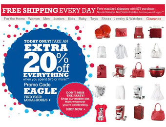 Save 20% off orders $75+ with code: EAGLE