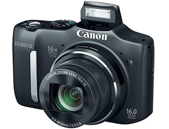 $65 off Canon PowerShot SX160 IS 16.0MP 16x Zoom Digital Camera