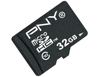 71% off PNY 32GB High Speed microSDHC Class 10 Memory Card