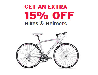 Extra 15% off Bikes and Helmets at REI Outlet