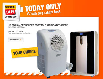 Up to 25% off Select Portable SPT & Haier Air Conditioners