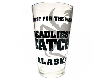 80% off Deadliest Catch No Rest for the Wicked Beverage Glass