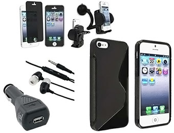 73% off eForCity iPhone 5 Headset, Case, Charger, Holder & Privacy