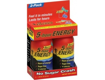 70% off 5-Hour Energy Berry Energy Shot - 2 Count