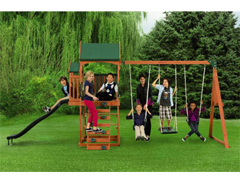 $175 off New Timber Play II With Balcony Swing Set