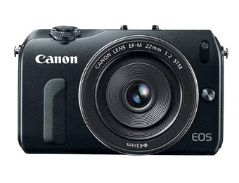 $300 off Canon EOS M 18MP Camera w/ EF-M 22mm STM Lens
