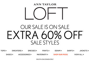 Extra 60% off Sale Items at Ann Taylor Loft w/ code: EVENMORE