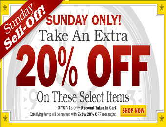 Sunday Sell-off! Take an Extra 20% off 60 items at Nashbar.com