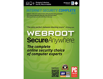 Free after $65 rebate: Webroot SecureAnywhere Complete 2013