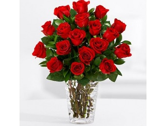 60% off 18 Long Stemmed Red Roses