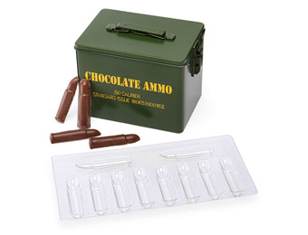 60% off Chocolate Ammo DIY Kit, Makes 20 .50 Caliber Bullets