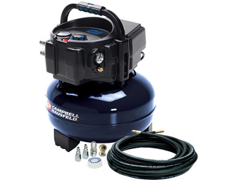 $130 off Campbell Hausfeld 6 Gallon Oil-Free Pancake Air Compressor