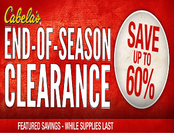 Save up to 60% off - End-of-Season Clearance