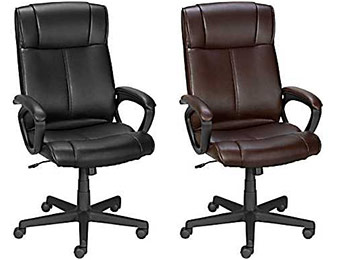$100 off Staples Turcotte Luxura Managers Chair (Black or Brown)