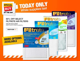 60% off Select Filtrete Air Filters