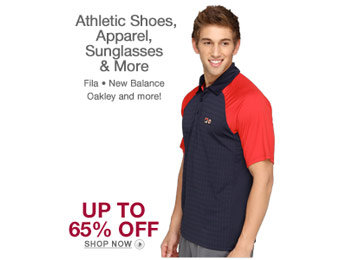Up to 65% off Apparel from Oakley, New Balance, Puma, Fila, DC & More