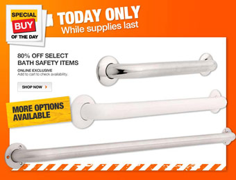 80% off Select Home Bath Safety Items, Grab Rails, Grab Bars, Seats