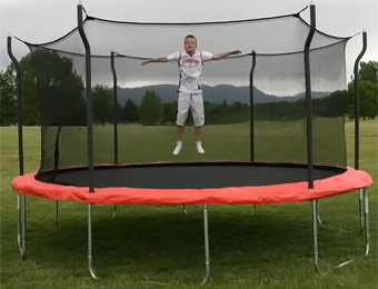 $130 off Propel 15ft Trampoline with Enclosure and Anchor Kit