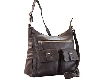 55% off R & R Collections 2 Front Pockets Hobo Leather Handbag