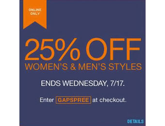 25% off Men's & Women's Apparel w/code: GAPSPREE