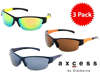$90 off 3-Pack of Axcess By Claiborne Sunglasses