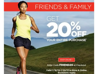 20% off Entire Purchase at Sports Authority w/code: FRIEND20