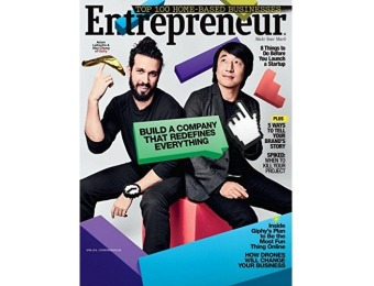 92% off Entrepreneur Magazine - 12 issues / 12 months subscription