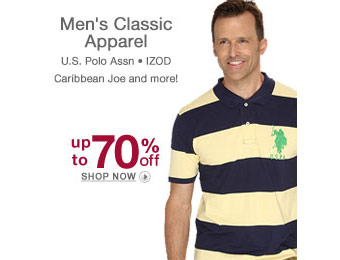 Up to 70% off Men's Classic Apparel Izod, Polo, & More